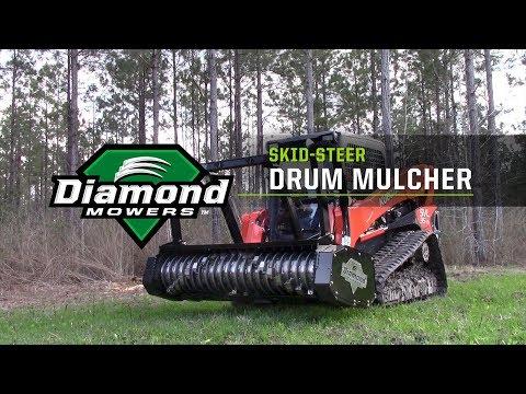 Diamond Mowers intros new 72-inch Skid Steer Drum Mulcher