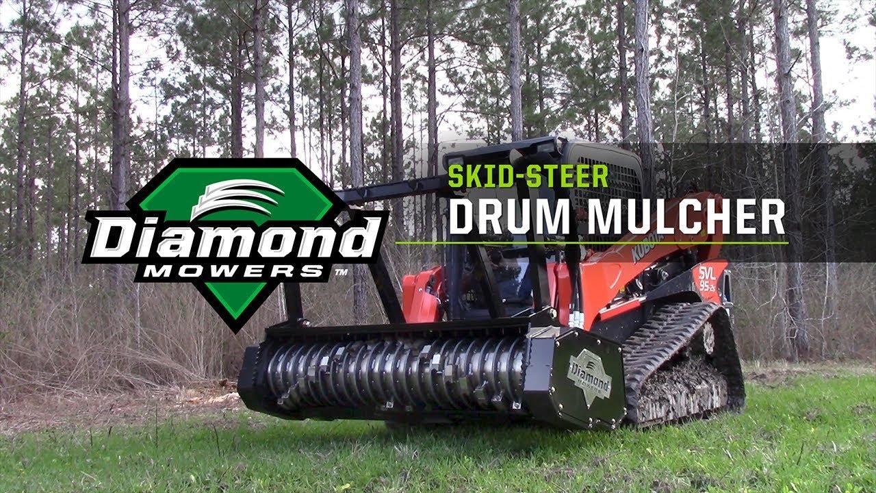 Skid-Steer Drum Mulcher - Diamond Mowers