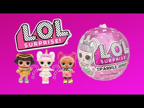 L.O.L. Surprise! Sparkle Series with Glitter Finish & 7 Surprises Unboxing Toy Review