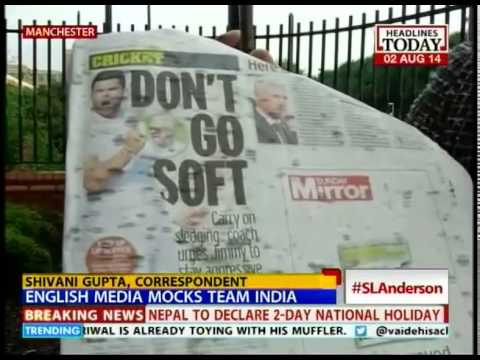 What are British newspapers saying about the Anderson-Jadeja issue?