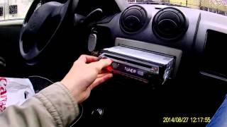Renault Logan подключение магнитолы Sony CDX-GT210 без разъема.