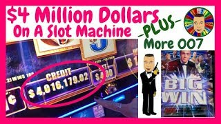 💥Unbelievable! $4,016,179 Slot Machine Credit & 007 Wins💥