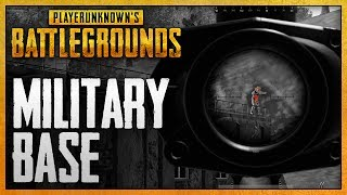 Player Unknown's Battlegrounds - #3 - Military Base! (4 Player Squad Gameplay)