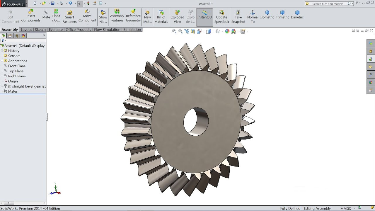 How to Sketch Bevel Gear in Solidworks