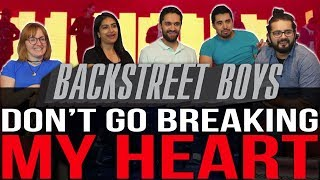 Backstreet Boys - Don't Go Breaking My Heart - Group Reaction
