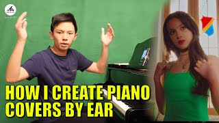How I Create A Piano Cover By Ear - behind The Scenes - Deja Vu | Cole Lam 14 Years Old видео