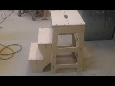 Складной стульчик (стремянка) из фанеры своими руками!