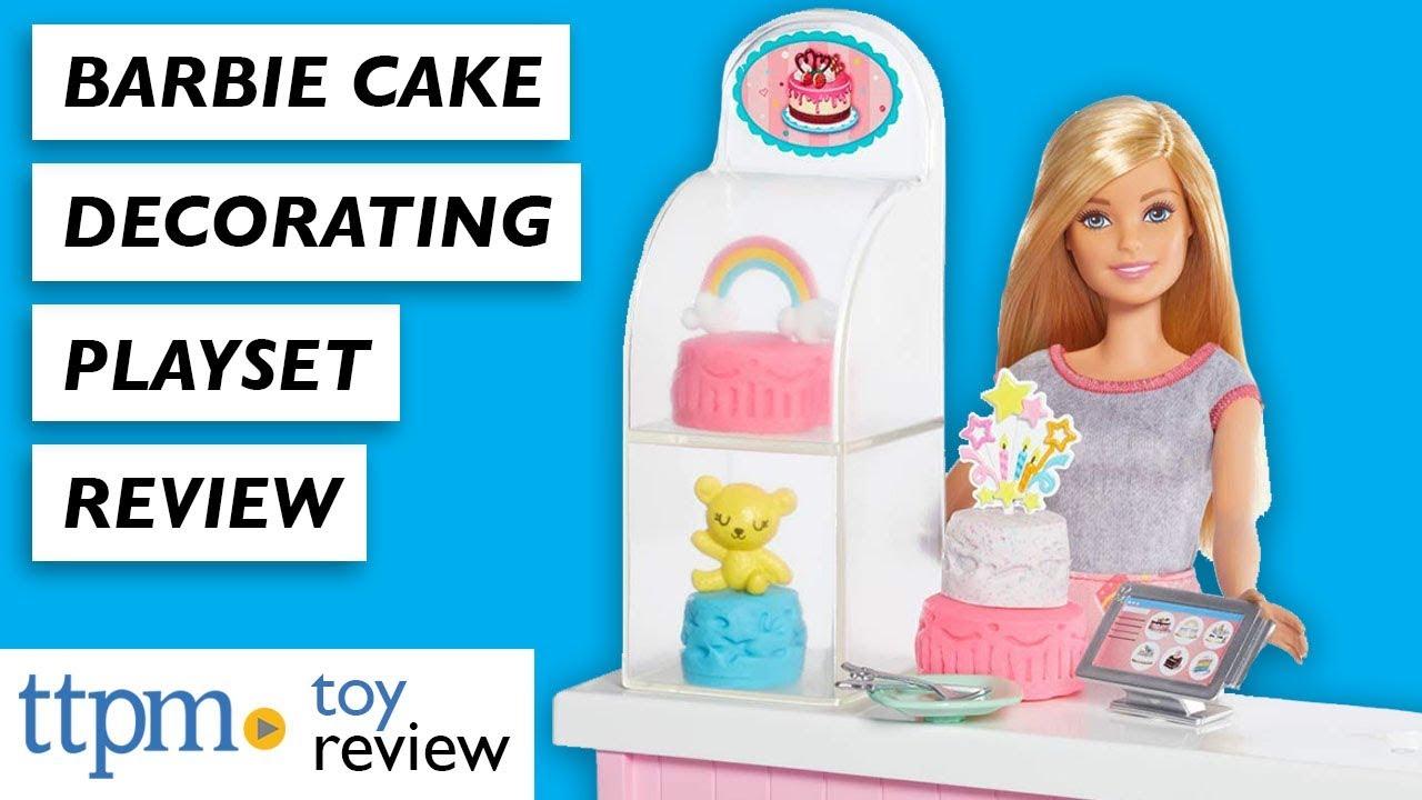 Barbie Cake Decorating Playset From Mattel Youtube