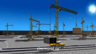 Пример асинхронной зацикленной анимации в Cinema 4D