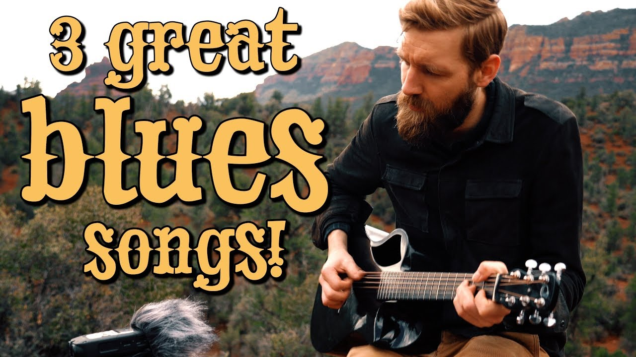 3 GREAT fingerstyle BLUES songs (pt  3)