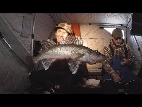 Lake Nipissing Ice Fishing Walleye Perch And Burbot Action 2019