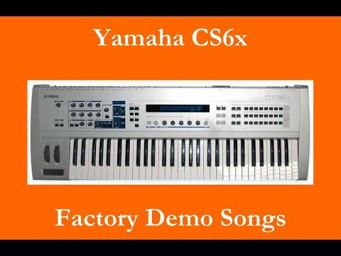 Yamaha CS6x - Démos internes - Factory Demo Songs