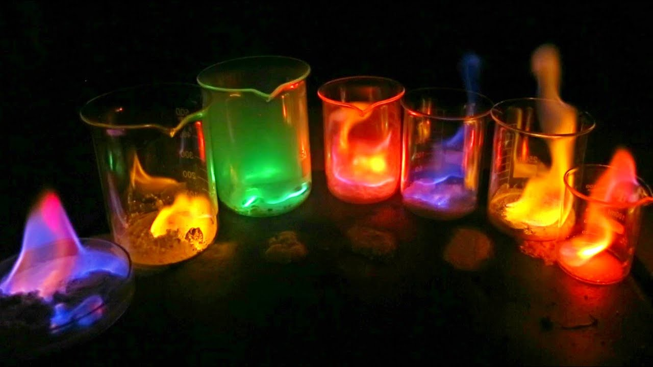 How to Make Rainbow Flame - Science Experiments - YouTube
