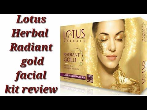 08b634a159 Lotus Herbal Radiant gold facial kit review/ facial at home. - YouTube
