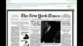 Browse the New York Times for a Specific Date in History
