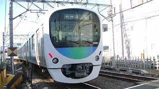 西武池袋線30000系38104F各停保谷行き 東長崎駅前の踏切通過
