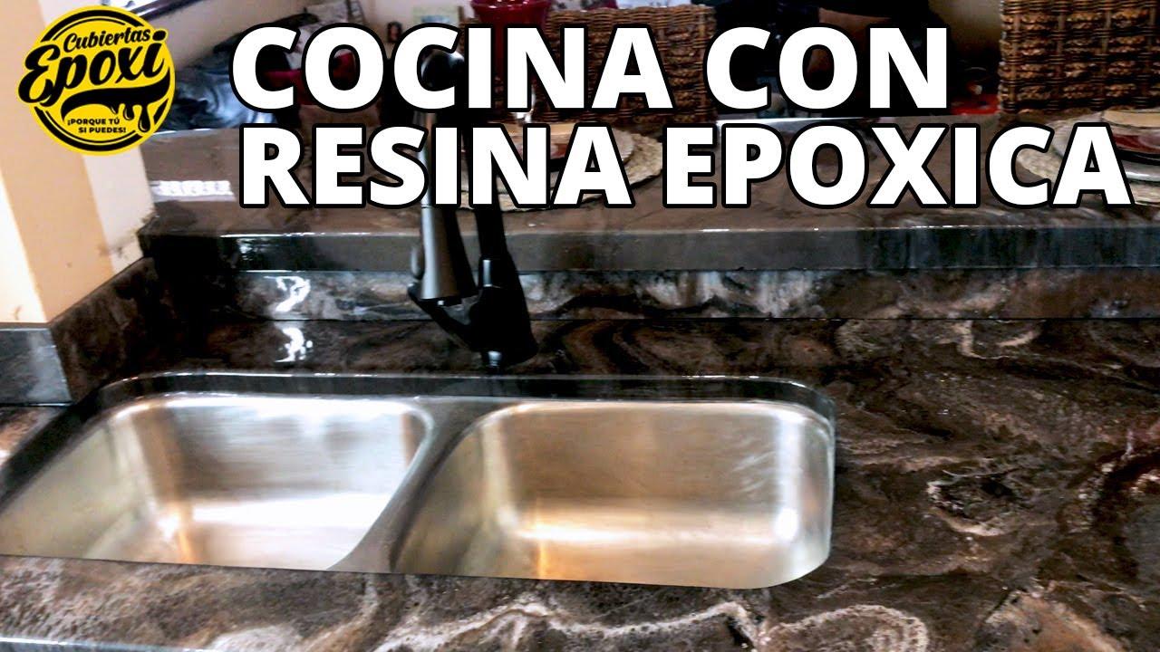 Usando Resina Epoxica En Remodelación De Cocina Con La Marca MAS | Cubiertas Epoxi