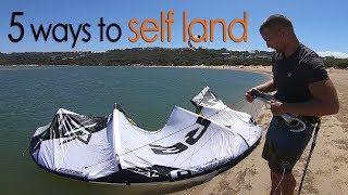 5 ways to self land (kiteboarding tutorial)