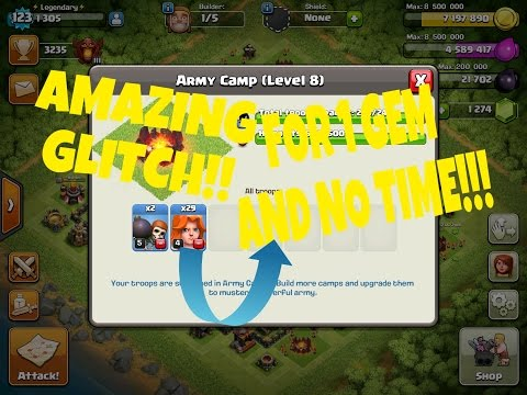 COC TROOP TRAINING AND BARRACKS GLITCH!!! (October 2016 Update)  Clash Of Clans