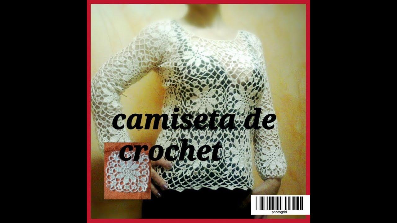 Tutorial:CAMISETA DE CROCHET O GANCHILLO - YouTube