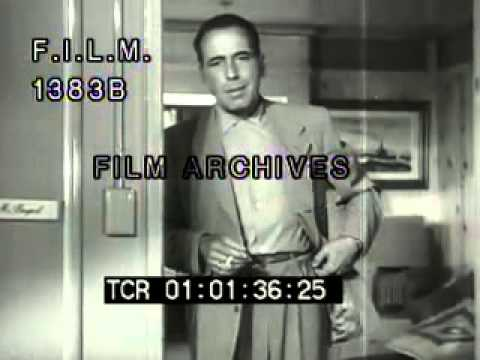 Humphrey Bogart and Lauren Bacall (stock footage / archival footage)