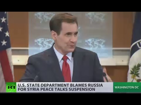 Syrian talks paused 'in part' because of Russia, US State Dept claims