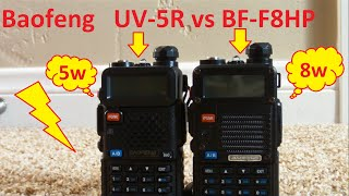 Baofeng UV-5R vs Baofeng BF-F8HP