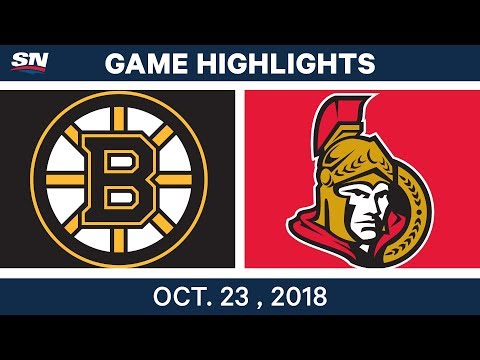 NHL Highlights | Bruins vs. Senators - Oct. 23, 2018