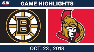 NHL Highlights | Bruins vs. Senators - Oct. 23, 2018