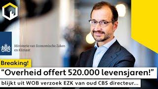 """""""Overheid offert 520.000 levensjaren!"""" blijkt uit WOB verzoek EZK van oud CBS directeur..."""