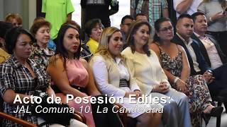 POSESIÓN EDILES JAL COMUNA 10, MEDELLÍN