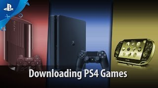 Downloading Games | PS4