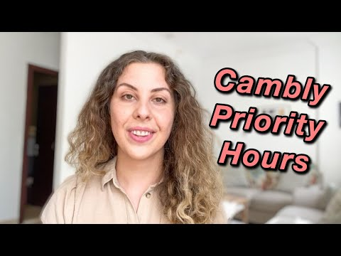 CAMBLY PRIORITY HOURS | Tutorial for Beginners