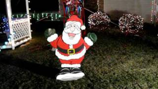 Dancing Santa In Display