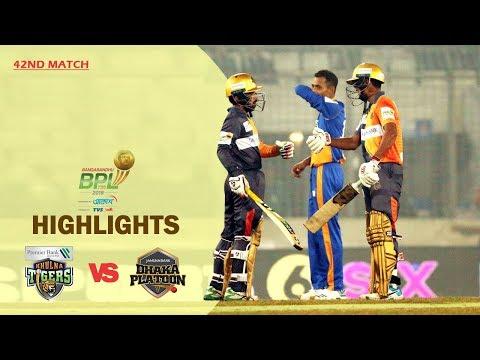 Dhaka Platoon Vs Khulna Tigers Highlights | 42nd Match | Season 7 | Bangabandhu BPL 2019-20