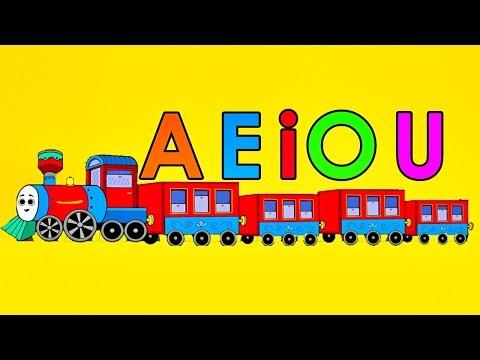 El Tren De Las Vocales Canción Infantil - a e i o u - Videos Educativos Para Niños - Lunacreciente