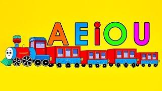 El Tren De Las Vocales Canción Infantil - a e i o u - Videos Educativos Para Niños  - Pre escolar