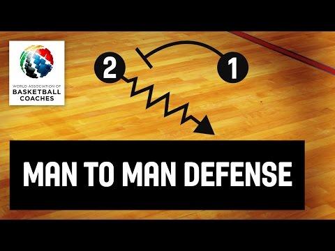 Basketball Coach Mahmuti Oktay - Man To Man Defense