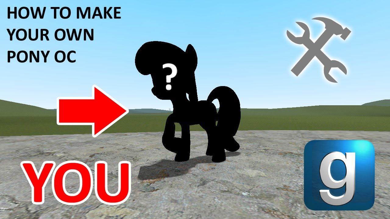 How to make your Own Pony OC for Gmod (RagDoll)