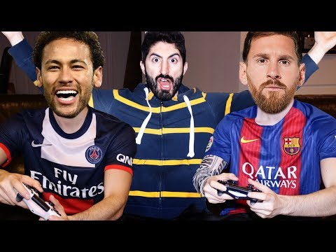 NEYMAR PLAYS FIFA 18 WITH MESSI | Footy Friends