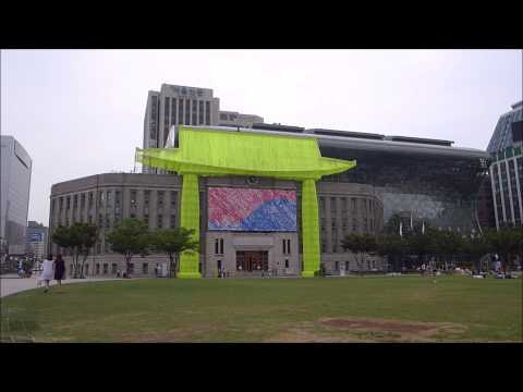 VIDEO LANDSCAPE [2015.08] Seoul Metropolitan Library from Seoul Plaza