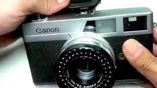 キャノン 初代キャノネット後期型の使い方 How to use CANON CANONET the first ASA400 type