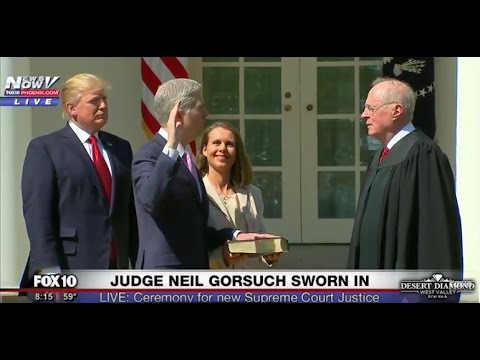 FULL EVENT: Neil Gorsuch Takes Oath of Office, is Sworn In as Supreme Court Justice