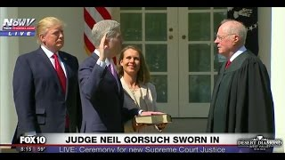 FULL EVENT: Neil Gorsuch Takes Oath of Office, Sworn In as Supreme Court Justice (FNN)