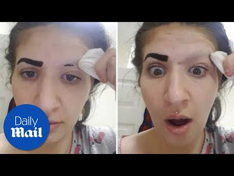Chinese make-up leads to spectacular eyebrow fail - Daily Mail