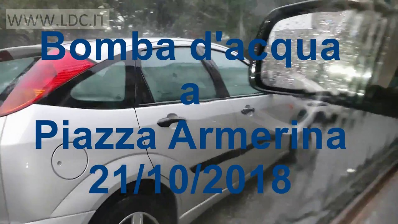 Nubifragio Piazza Armerina HQ Video Inedito bomba d'acqua