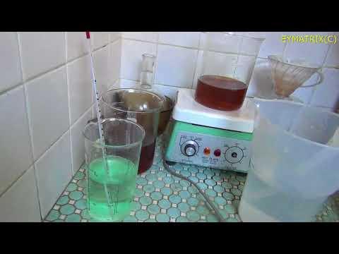 gold precipitation using Iron sulfate ゴールドリサイクル1