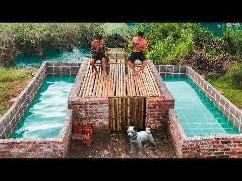 Build The Most Amazing Swimming Pool Around Secret Underground House