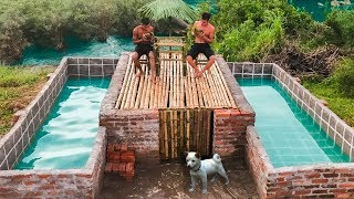 Build The Most Amazing Swimming Pool Around Secret Underground House