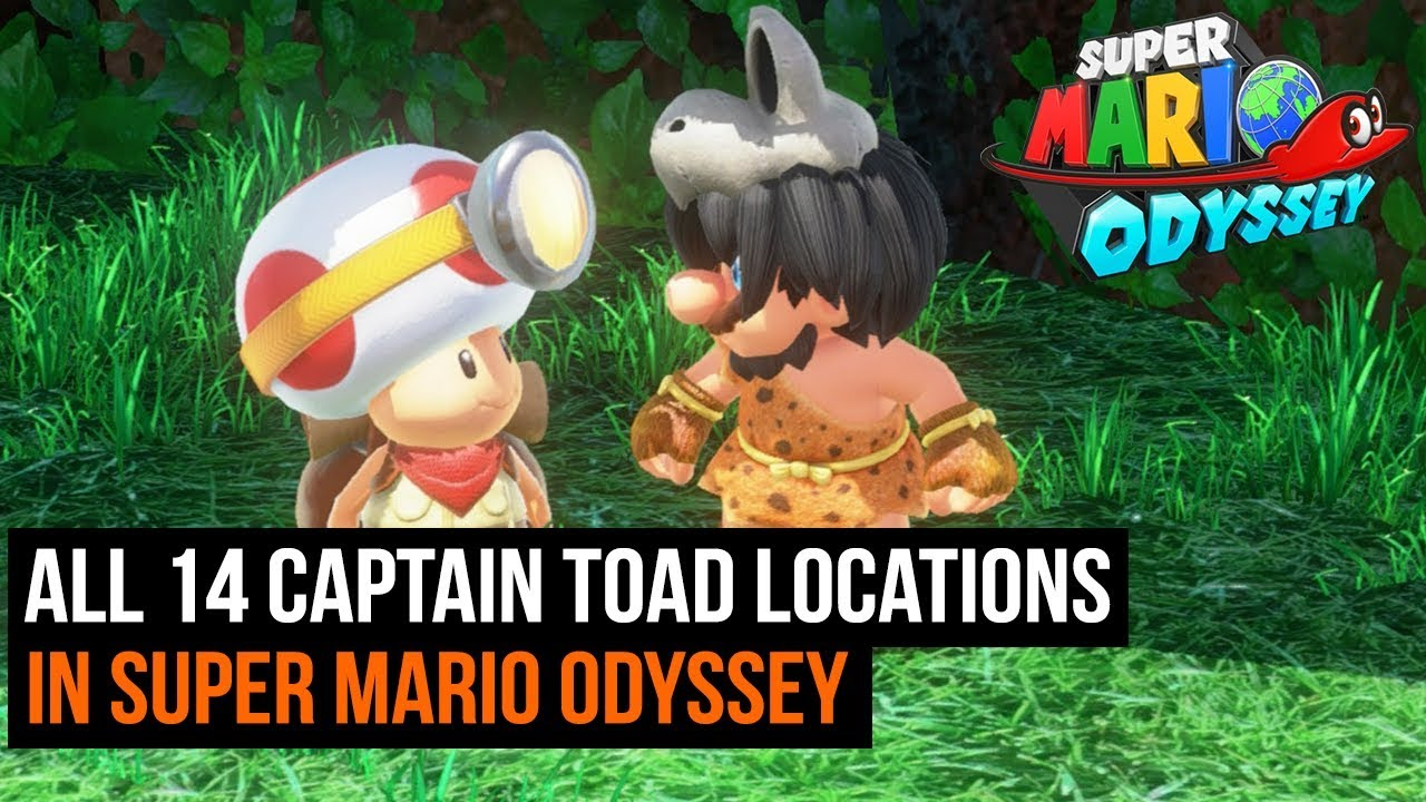 all 14 captain toad locations in super mario odyssey youtube